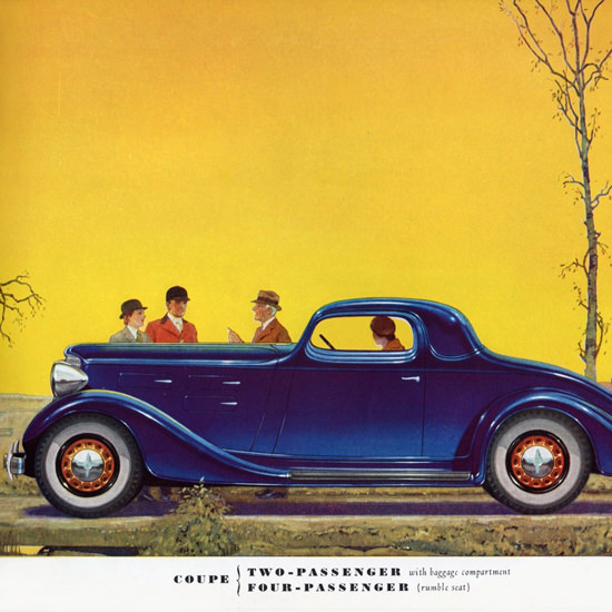 Detail Of LaFayette Two Door Four P Coupe 1934 | Best of Vintage Ad Art 1891-1970