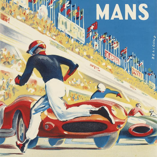 Detail Of Le Mans 1959 24 Hours | Best of Vintage Ad Art 1891-1970