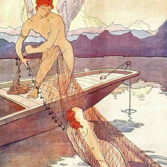 Detail Of Le Sourire 1911 Life Guard Angel   Best of Vintage Ad Art 1891-1970