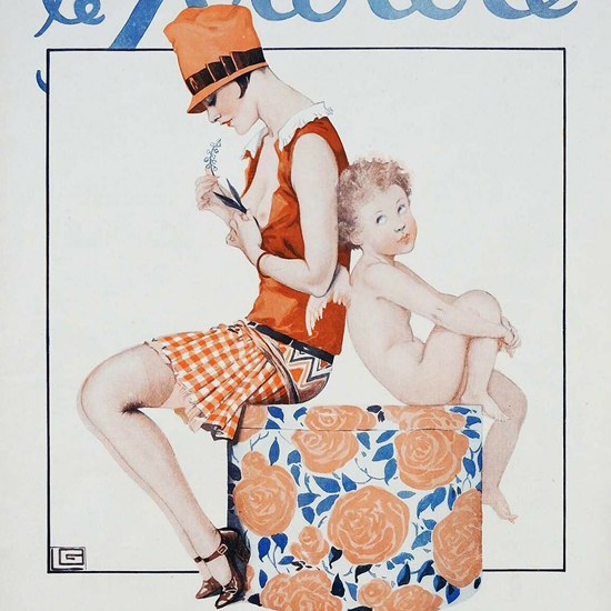 Detail Of Le Sourire 1927 L Inconstant Georges Leonnec | Best of 1920s Ad and Cover Art