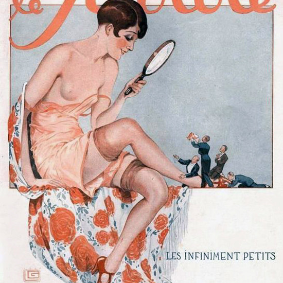 Detail Of Le Sourire 1927 Les Infiniment Petits Georges Leonnec | Best of 1920s Ad and Cover Art