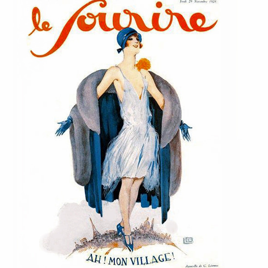 Detail Of Le Sourire 1928 Paris Mon Village Georges Leonnec | Best of 1920s Ad and Cover Art