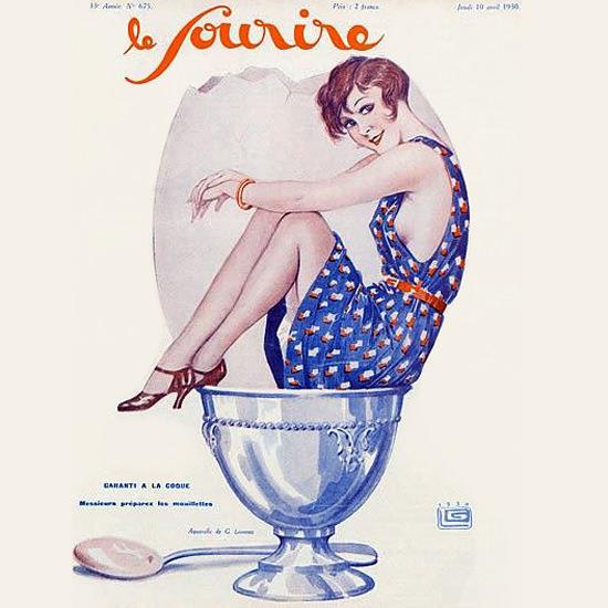 Detail Of Le Sourire 1930 Garanti Georges Leonnec | Best of Vintage Ad Art 1891-1970