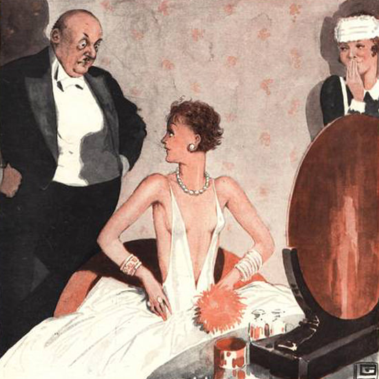 Detail Of Le Sourire Magazine 1929 Jaloux Toujours Tort | Best of Vintage Ad Art 1891-1970