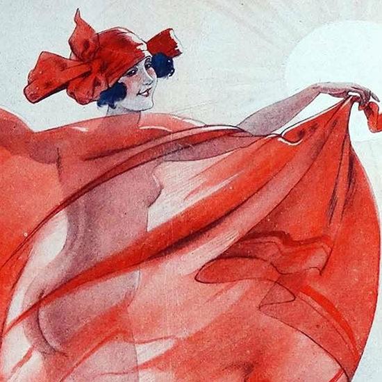 Detail Of Leo Fontan La Vie Parisienne 1923 Contre-Jour page B | Best of 1920s Ad and Cover Art