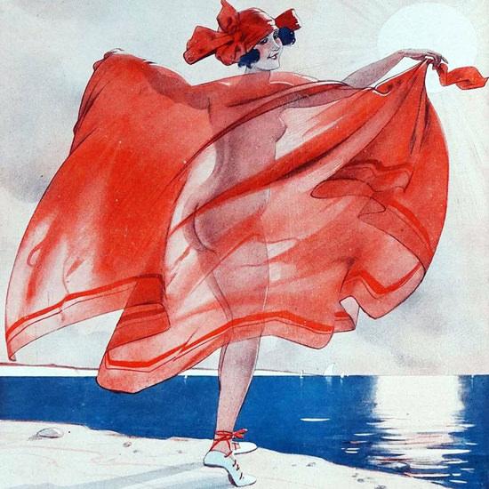 Detail Of Leo Fontan La Vie Parisienne 1923 Contre-Jour page   Best of 1920s Ad and Cover Art