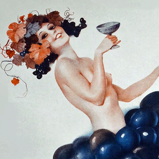 Detail Of Leo Fontan La Vie Parisienne 1931 La Grappe page B | Best of Vintage Ad Art 1891-1970