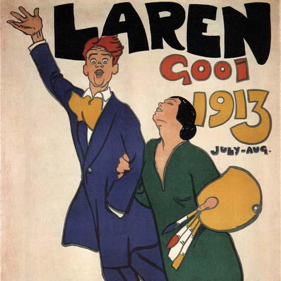 Detail Of Laren Gooi 1913 Netherlands | Best of Vintage Ad Art 1891-1970