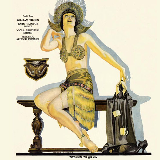 Detail Of Liberty Magazine June 21 1924 Coles Phillips | Best of 1920s Ad and Cover Art