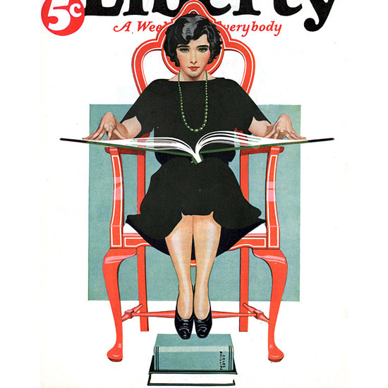 Detail Of Liberty Magazine May 2 1925 Coles Phillips | Best of 1920s Ad and Cover Art
