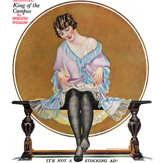 Detail Of Liberty Magazine October 4 1924 Coles Phillips | Best of 1920s Ad and Cover Art