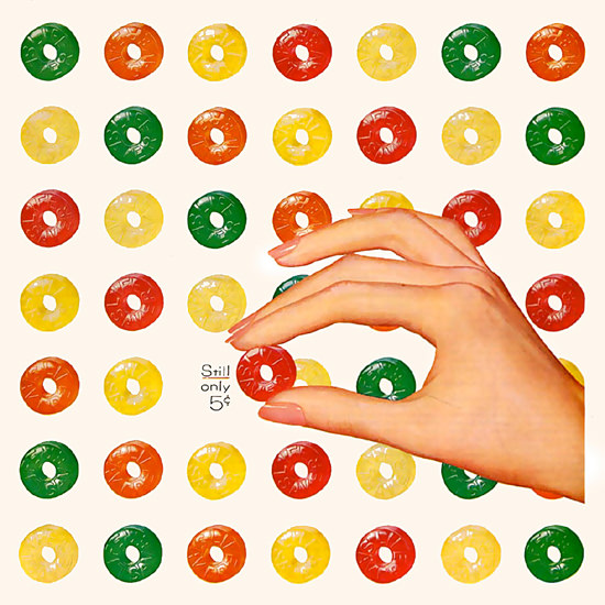 Detail Of Life Savers Candy Still Only Five Cents | Best of Vintage Ad Art 1891-1970