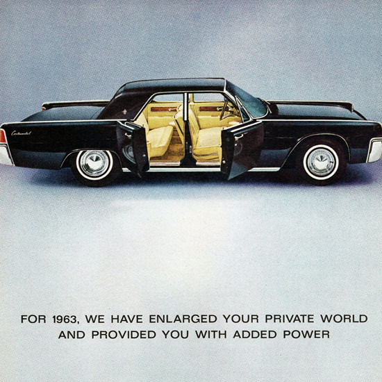 Detail Of Lincoln Continental 1963 Enlarged Your World | Best of Vintage Ad Art 1891-1970