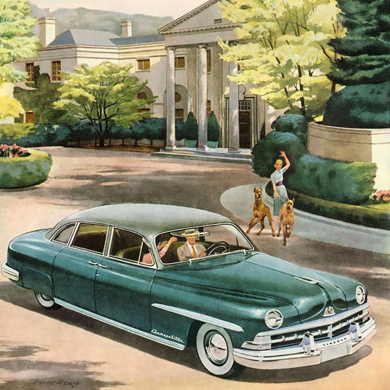 Detail Of Lincoln Cosmopolitan Nothing Could Be Finer | Best of Vintage Ad Art 1891-1970