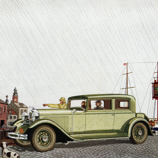 Detail Of Lincoln Coupe 1931 When Wheels Are Wings   Best of Vintage Ad Art 1891-1970
