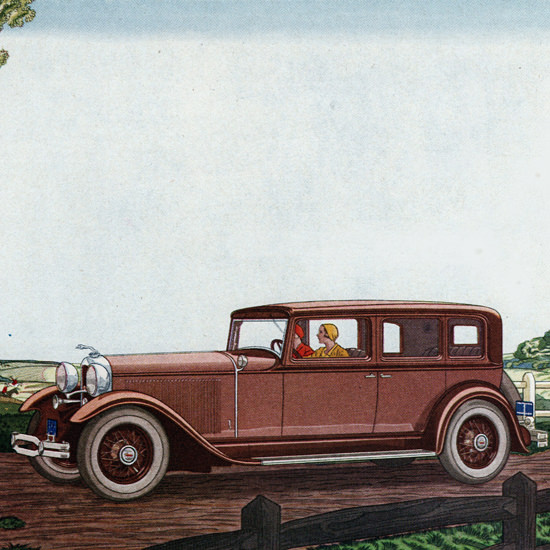 Detail Of Lincoln Five P Sedan 1931 Born Of The Moment | Best of Vintage Ad Art 1891-1970