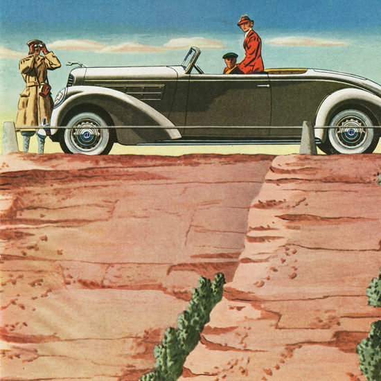 Detail Of Lincoln LeBaron Convertible Roadster 1937 | Best of Vintage Ad Art 1891-1970