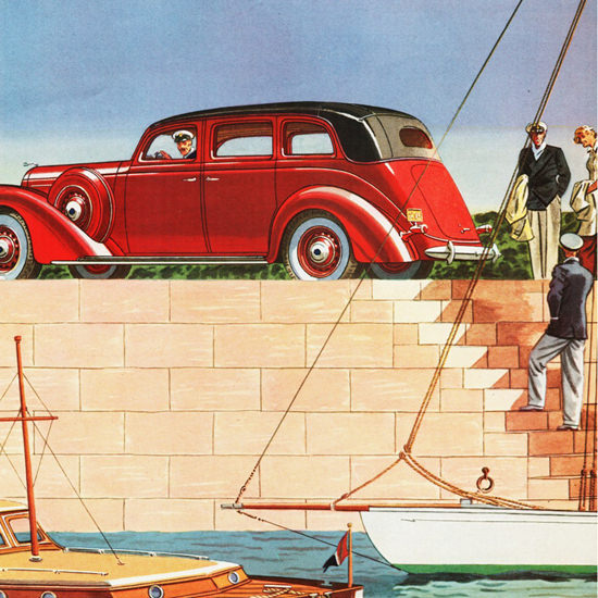 Detail Of Lincoln Limousine Willoughby 1937 | Best of Vintage Ad Art 1891-1970