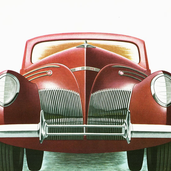 Detail Of Lincoln Zephyr V12 1939 | Best of 1930s Ad and Cover Art