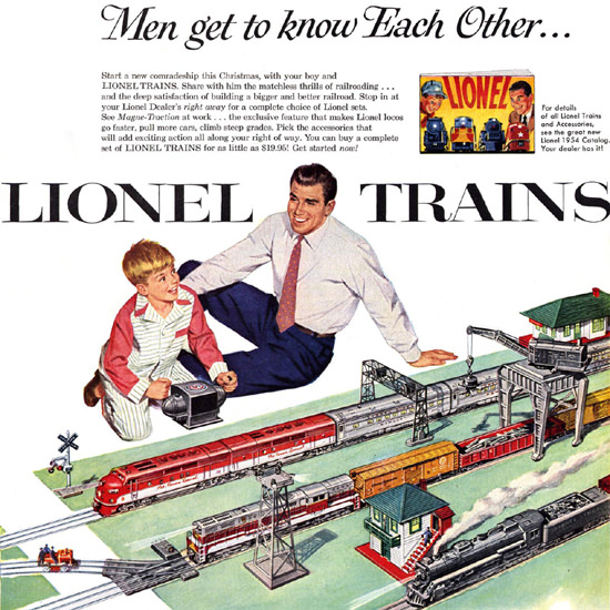 Detail Of Lionel Trains 1954 | Best of 1950s Ad and Cover Art