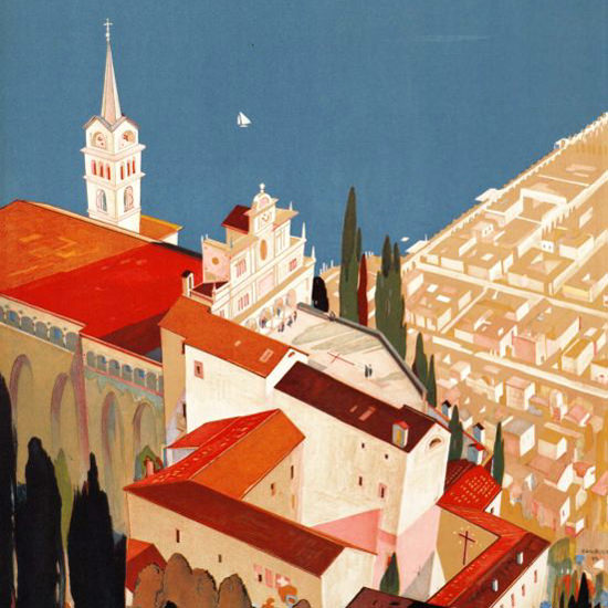 Detail Of Locarno Switzerland 1944 | Best of 1940s Ad and Cover Art
