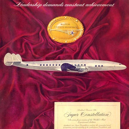 Detail Of Lockheed Super Constellation 1951 | Best of Vintage Ad Art 1891-1970