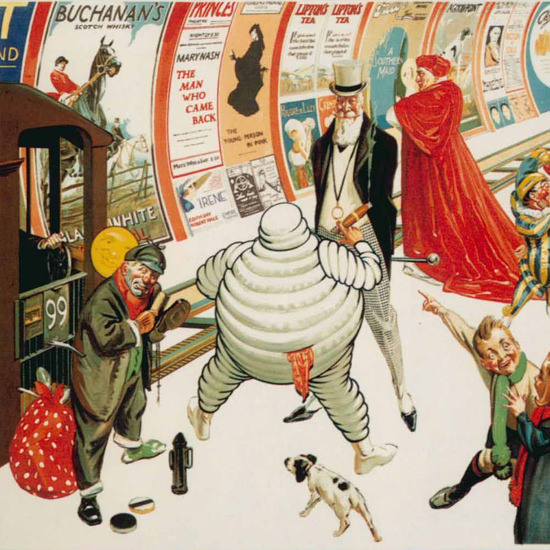 Detail Of London Underground 1920 Advertising Exhibition L | Best of Vintage Ad Art 1891-1970