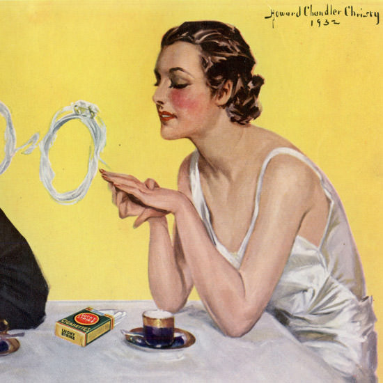 Detail Of Lucky Strike Cigarettes Forever And Ever 1933 | Best of Vintage Ad Art 1891-1970