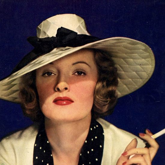 Detail Of Lucky Strike Cigarettes Lady 1935 | Best of 1930s Ad and Cover Art