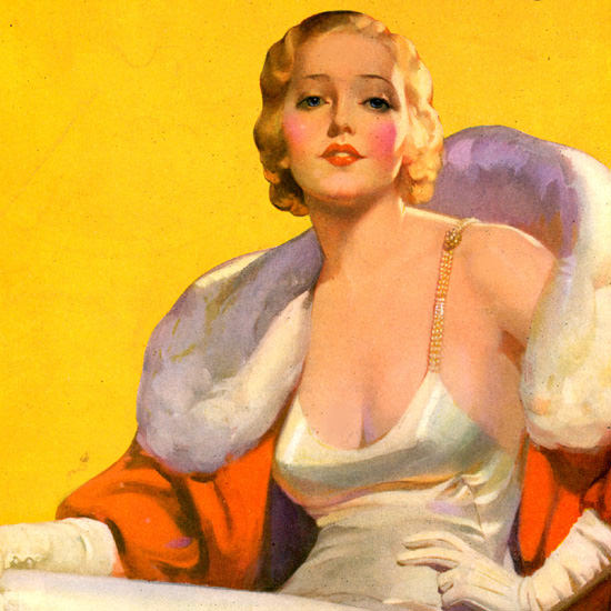 Detail Of Lucky Strike Cigarettes OK Miss America 1932 by McClelland Barclay | Best of 1930s Ad and Cover Art