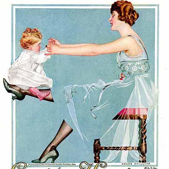 Detail Of Luxite Hosiery Japanese Silk 1918 Coles Phillips   Best of Vintage Ad Art 1891-1970