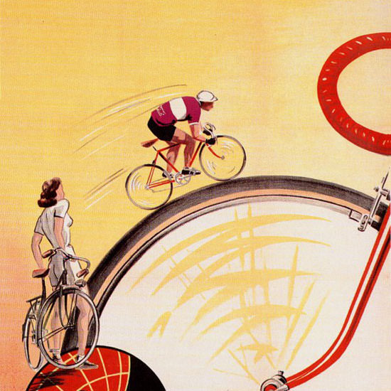 Detail Of Magnat Debon Cycles 1930 V Dumay | Best of Vintage Ad Art 1891-1970