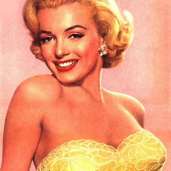Detail Of Marilyn Monroe Hollywood Niagara Tru Glo 1953 | Best of Vintage Ad Art 1891-1970