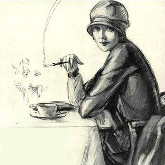 Detail Of Marlboro Cigarettes Lady 1927 Mild As May | Best of Vintage Ad Art 1891-1970