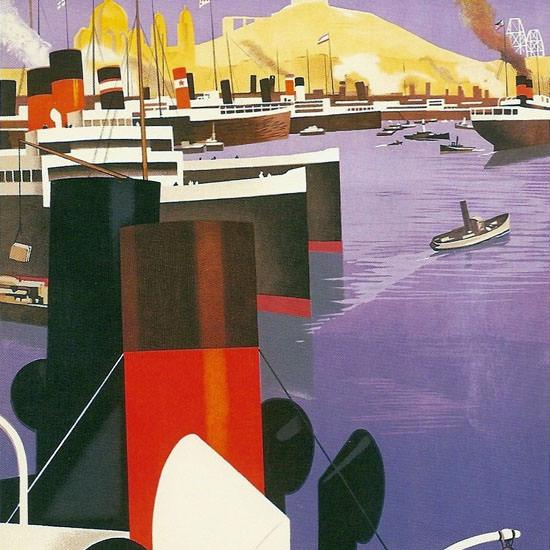 Detail Of Marseille Porte De L Afrique Du Nord 1931 | Best of 1930s Ad and Cover Art