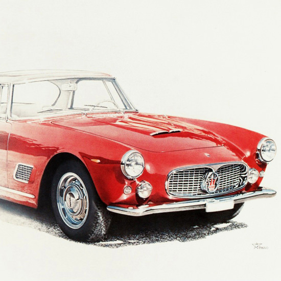 Detail Of Maserati 3500 GT 1957 | Best of Vintage Ad Art 1891-1970