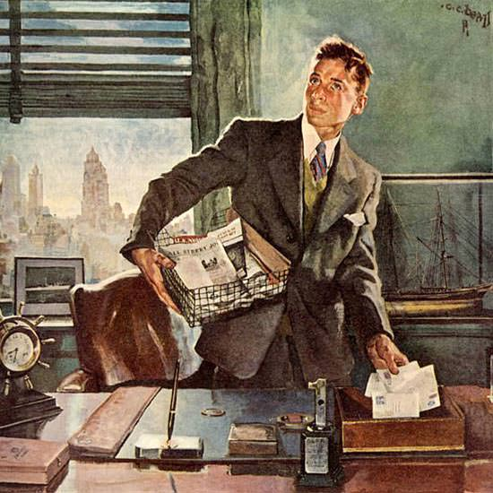 Detail Of Massachusetts Mutual Your First Job | Best of Vintage Ad Art 1891-1970