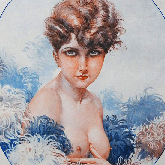 Detail Of Maurice Milliere La Vie Parisienne 1926 Souhaiter Sa Fete page | Best of 1920s Ad and Cover Art