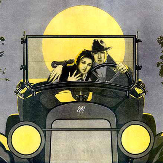 Detail Of Maxwell Motor Co The Thrift 1920 Coles Phillips | Best of 1920s Ad and Cover Art