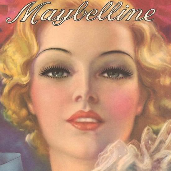 Detail Of Maybelline Beautiful Eyes For You 1930 | Best of Vintage Ad Art 1891-1970