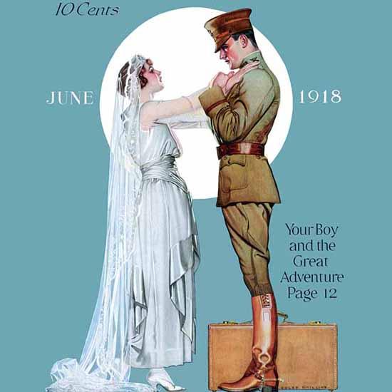 Detail Of McCalls Magazine June 1918 Coles Phillips   Best of Vintage Ad Art 1891-1970