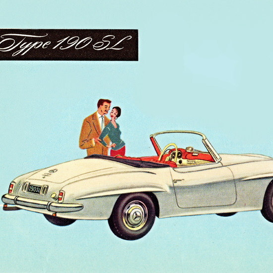Detail Of Mercedes Benz Type 190 SL 1955 | Best of Vintage Ad Art 1891-1970