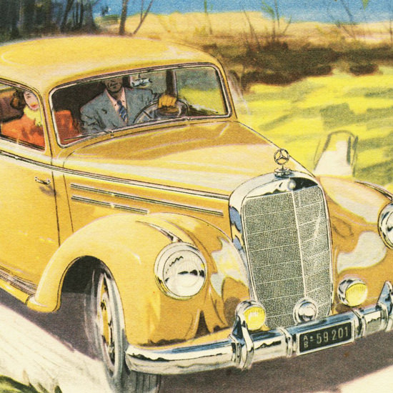 Detail Of Mercedes Benz Type 220 Sedan 1951 | Best of Vintage Ad Art 1891-1970