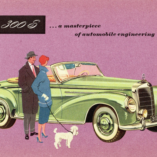Detail Of Mercedes Benz Type 300 S Roadster 1955 | Best of Vintage Ad Art 1891-1970