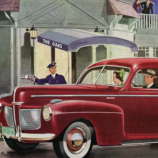Detail Of Mercury 8 Sedan 6 P 1941 The Oaks | Best of Vintage Ad Art 1891-1970