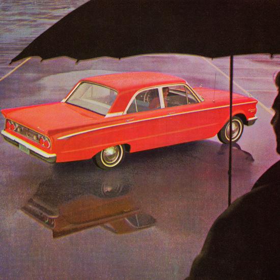 Detail Of Mercury Comet Sedan 1962 Umbrella | Best of Vintage Ad Art 1891-1970