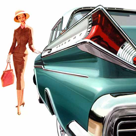 Detail Of Mercury Montclair Phaeton 1957 Ad | Best of Vintage Ad Art 1891-1970
