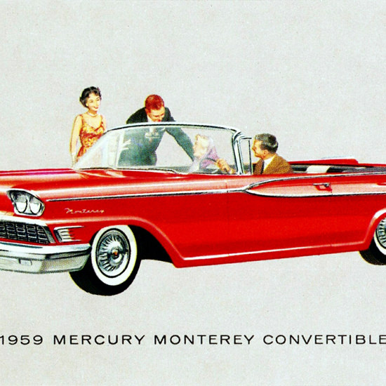 Detail Of Mercury Monterey Convertible 1959 | Best of Vintage Ad Art 1891-1970