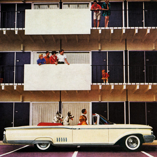 Detail Of Mercury Park Lane Convertible 1960 Great Dane | Best of Vintage Ad Art 1891-1970