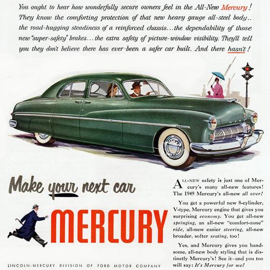 Detail Of Mercury Sport 1949 Safe Doesnt Say Enough | Best of Vintage Ad Art 1891-1970